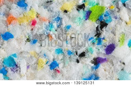 Abstract Colorful Background. Close up of Sound Absorbing Sponge in Recording Studio. Dampening Acoustical Foam in Music Studio. Acoustic Foam Detail.