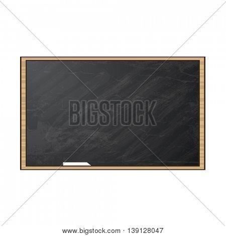 Chalk board. Vector illustration. Blackboard isolated on white background.