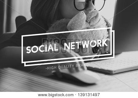 Social Network Connection Communication Concept