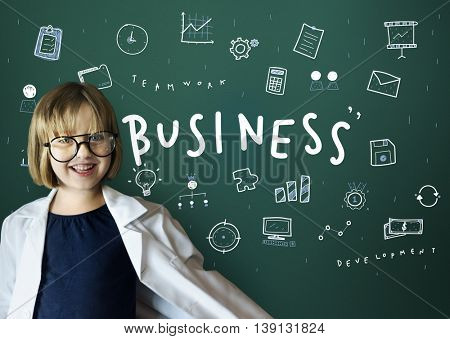 Business Icons Strategy Planning Graphics Concept