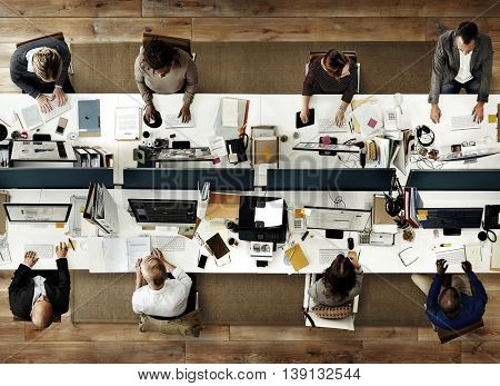 Business People Office Working Corporate Team Concept