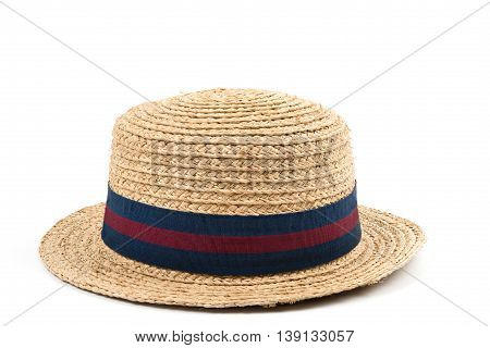 Straw hat isolated on white.Image with clipping path