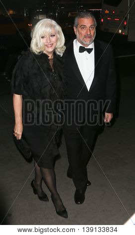 NEW YORK-OCT 19: Cynthia Germanotta (L) and Joe Germanotta attend the 2015 National Arts Awards at Cipriani 42nd Street on October 19, 2015 in New York City.