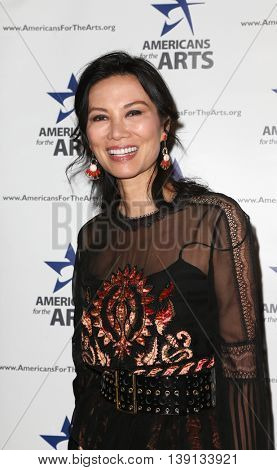 NEW YORK-OCT 19: Wendi Deng Mudoch attends the 2015 National Arts Awards at Cipriani 42nd Street on October 19, 2015 in New York City.