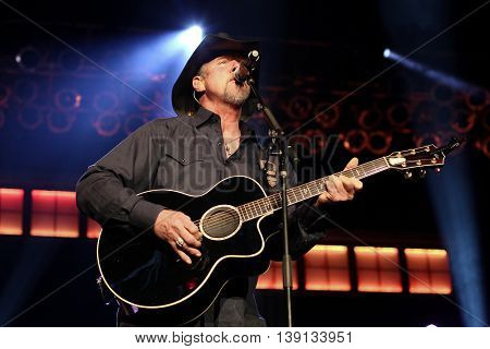 HUNTINGTON, NY-NOV 10: Country singer Trace Adkins performs onstage at The Paramount on November 10, 2015 in Huntington, New York.