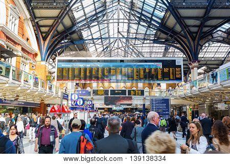 Liverpool Street Station In London, Uk