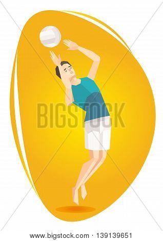 Vector illustration of a volleyball athlete.