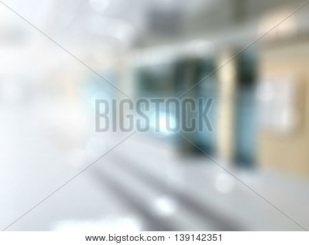 Abstract bokeh blur of hospital or clinic background