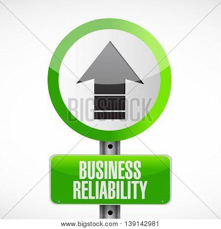 Business Reliability Road Arrow Sign Concept