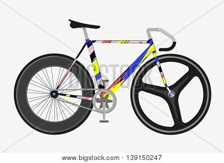 Flat fixed gear bicycle vector illustration vector outline