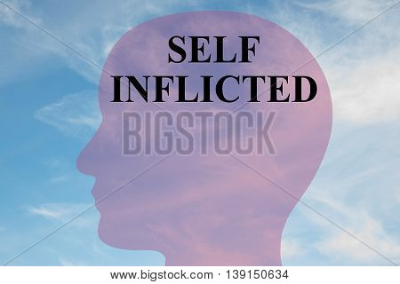 Self Inflicted Mental Concept