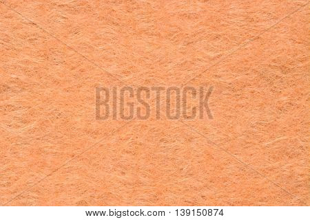 Orange woolen fabric texture background, close  up