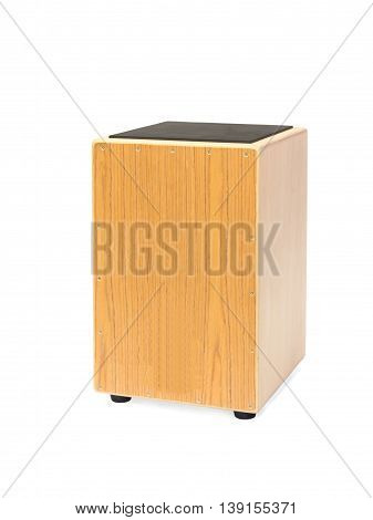 Isolated photograph of a Cajon hand drum
