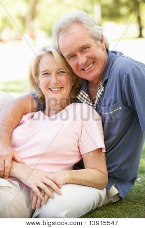 Porträt des romantischen altes Paar im Park