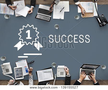 Success Achievement Accomplishment Strategy Improvement Concept