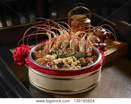 Singapore's auspicious dishes of seafood with shrimp mussels clams and crab