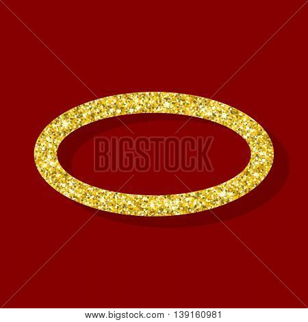 Golden Figure Elliptical Ring