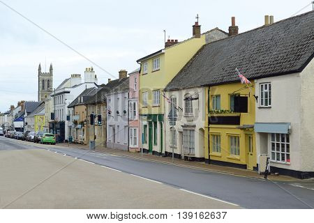 High Street in Honiton Devon famous by antique shops