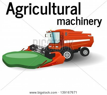 The combine is harvesting the agricultural technique nature