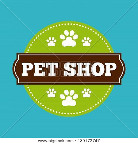 Pet shop concept represented by seal stamp icon. Colorfull and flat illustration.