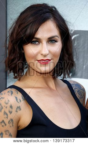 Scout Taylor-Compton at the Los Angeles premiere of 'Lights Out' held at the TCL Chinese Theater in Hollywood, USA on July 20, 2016.