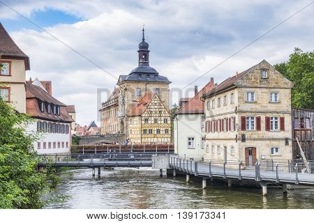 An image of the old town hall in Bamberg Bavaria Germany