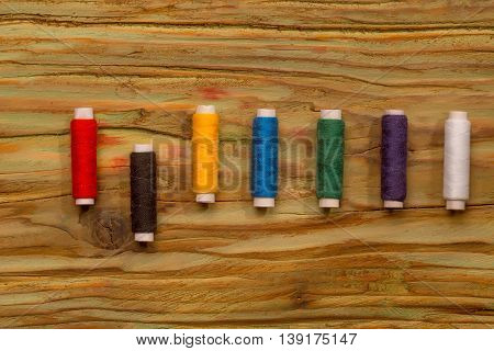 Colorful Bobbins Of Threads