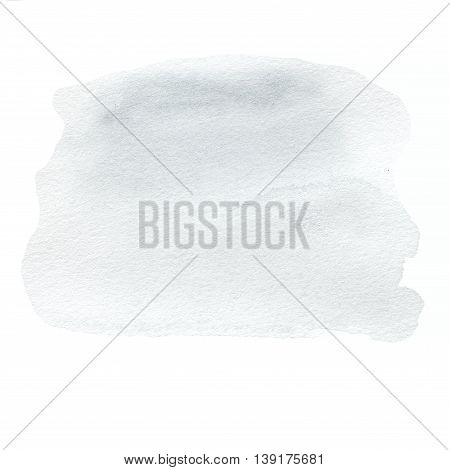 Grey Watercolour Hand Painted ink spot textured background. High resolution