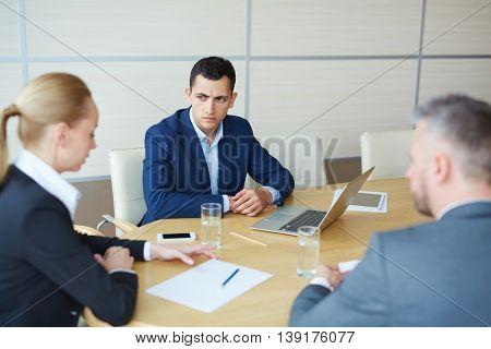 Brainstorming at meeting
