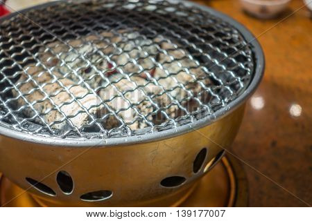 Empty hot barbecue grill