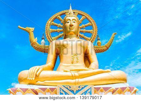Statue of Buddha in Thailand island Koh Samui. Buddhism religion concept