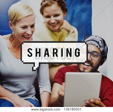 Sharing Share Communication Connection Interaction Concept
