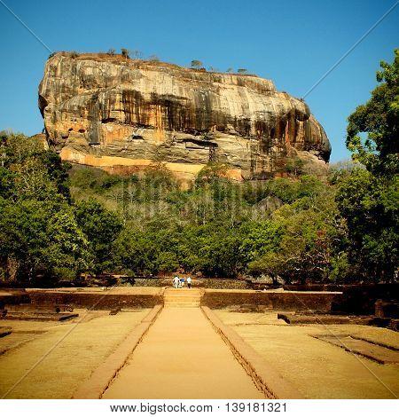 The Sigiriya ancient rock fortress, Sri Lanka