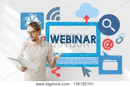 Webinar Web Webcast Technology Collaborative Concept