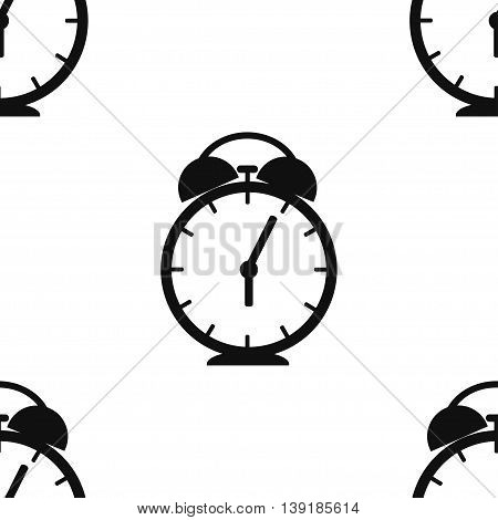 Seamless pattern for wrapping food products. Alarm clock. Vector illustration
