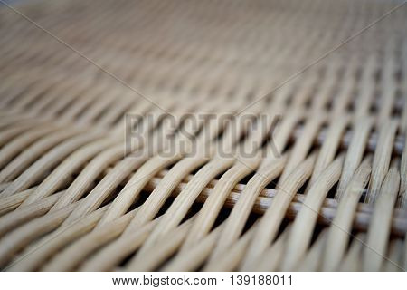 Abstract background of a wicker basket cover as a symbol of hand made wickerwork