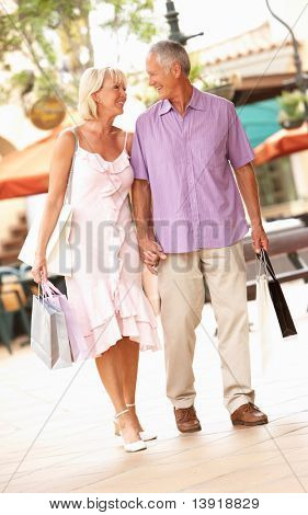 Senior Couple Enjoying Shopping Trip