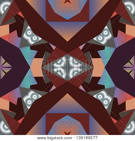 Fractal  multicolor seamless  abstracted pattern, psychedelic vector