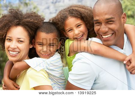 Portrait of Happy Family Park