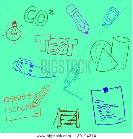 Doodle school collection stock hand draw illustration
