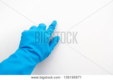 Blue gloves made from rubber finger direct