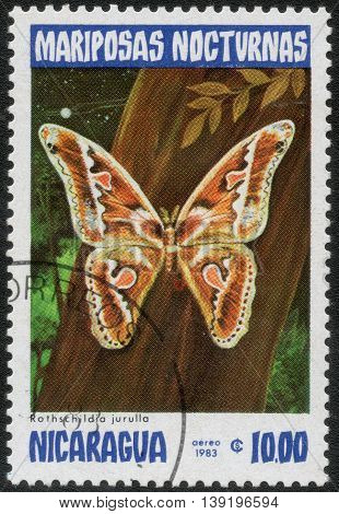 NICARAGUA - CIRCA 1983: A Stamp printed in Nicaragua shows a series of images
