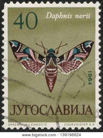 YUGOSLAVIA - CIRCA 1964: A Stamp printed in Yugoslavia shows a series of images