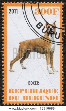 Republic of Burundi, - CIRCA 2011: A stamp printed by Burundi shows the a series of images