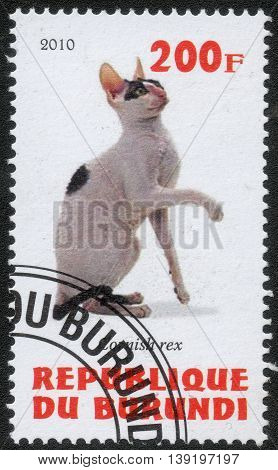 Republic of Burundi, - CIRCA 2010: A stamp printed by Burundi shows the a series of images