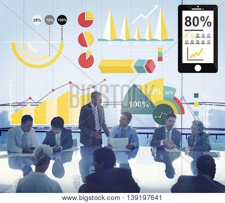 Diagram Percentage Business Chart Concept