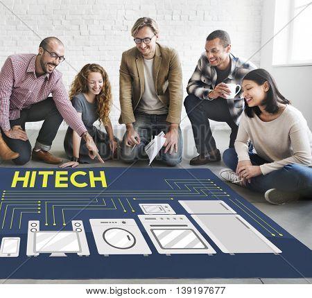 Hi-Tech Contemporary Innovation Internet Data Concept