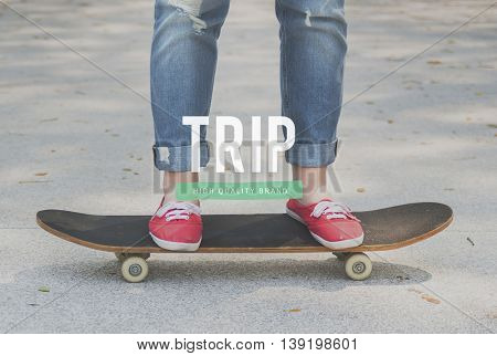 Summer Trip Free Time Recreation Concept