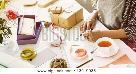 Present Gift Wrap Hobby Decoration Ideas Concept