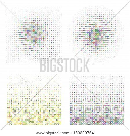 Halftone illustrator. Halftone dots. Halftone effect. Halftone pattern. Vector halftone dots. Dots on background. Vector Halftone Texture